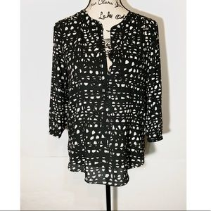 NYDJ Dotted Blouse